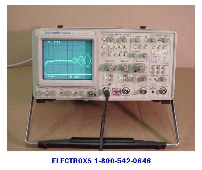 Tektronix Analog Oscilloscope : Tektronix a mhz analog oscilloscope serviced