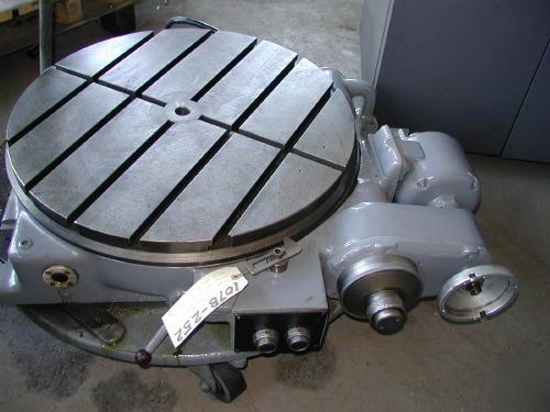 24 In Pratt Whitney Horiz Motorized Rotary Table