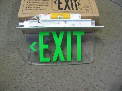 emergency exit sign. led emergency exit sign.