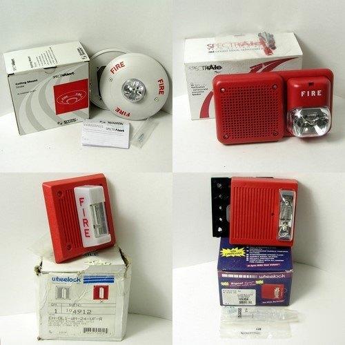 4 Wheelock System Sensor Spectralet Strobes Speakers
