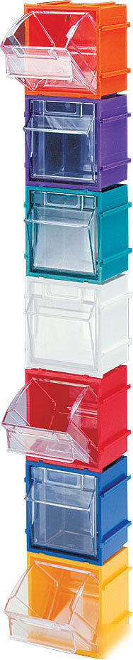 Wise tip out storage craft toy bin stackables blue 9