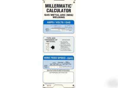 New mig miller welding calculator gmaw - Webaccess leroymerlin fr ...