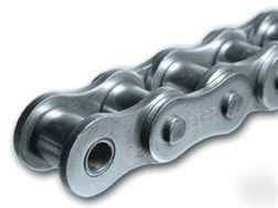 #40 ss stainless steel roller chain,10' box,1/2