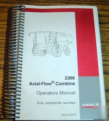 Case ih 2366 axial flow combine operators manual