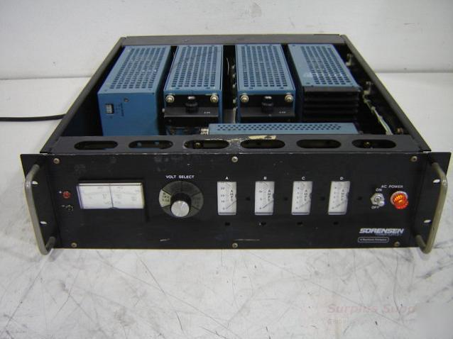 Sorensen various power supply chassis.