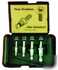 4 piece drill-out screw extractor set