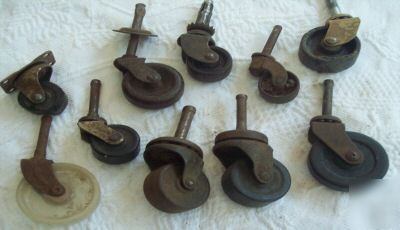 Beau Furniture Casters Antique On Assortment Of Antique Furniture Casters And  Wheels