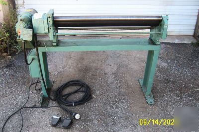 Milton Power Slip Rolls Roller Roll Sheet Metal Machine
