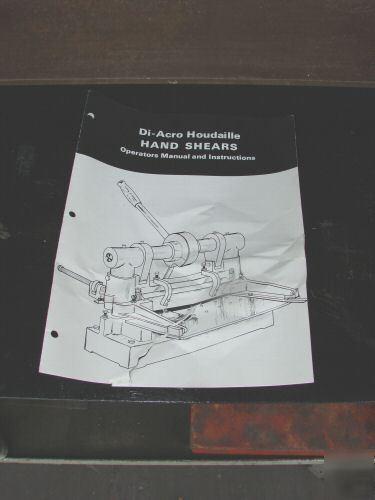 Diacro Di Acro 24 No 4 Sheet Metal Shear Bench Machine