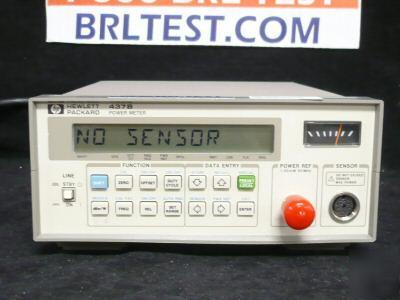 Hp 437b Power Meter W Sensor Cable 100khz 110ghz Opt 03