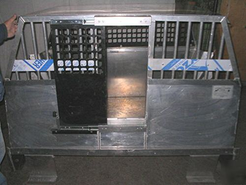Tahoe police vehicle K9 auto car containment cage
