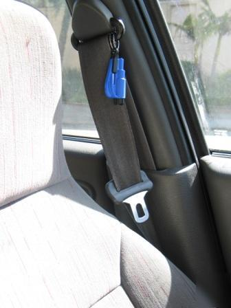 Resqme Seatbelt Cutter Window Punch Escape Tool Blue