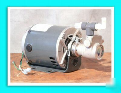 Fluid-o-tech rotoflow pump ge 1/4 hp motor